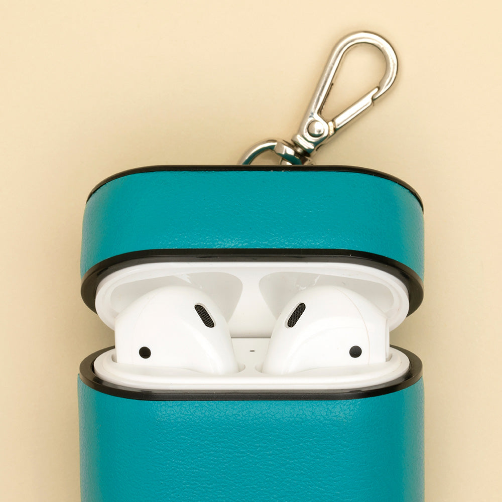 deep-teal-leather-airPods-case