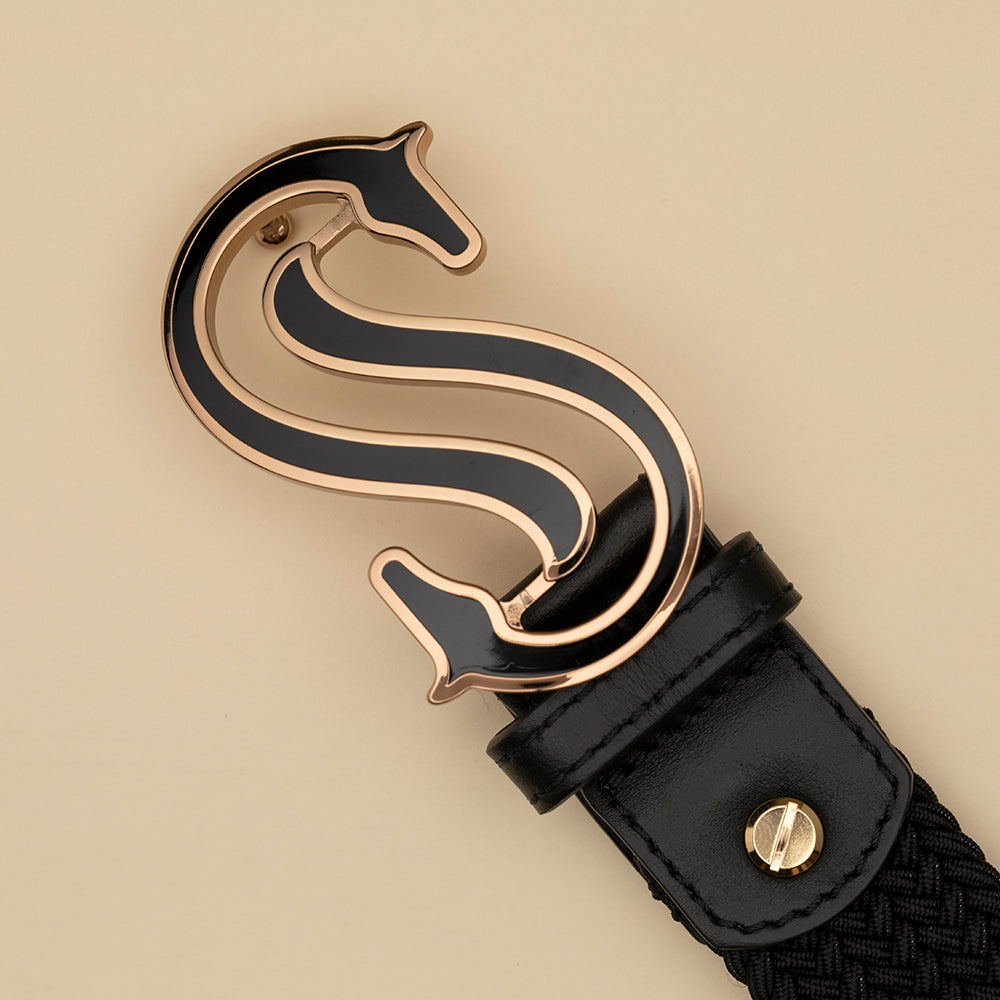 Black Elastic Belt - Scuderia 1918