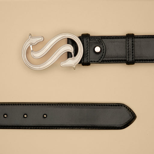 Black Leather Belt Light - Scuderia 1918