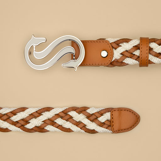 White Braided Belt - Scuderia 1918