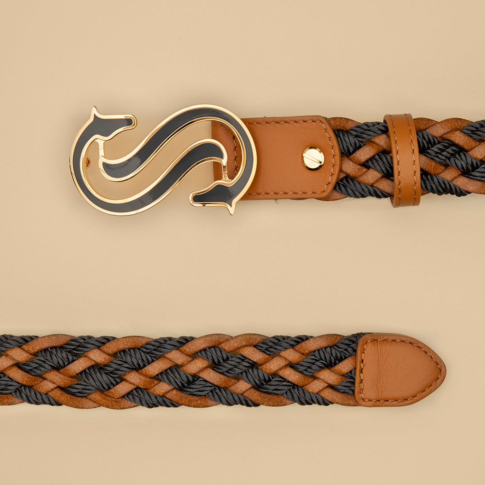 Black Braided Belt - Scuderia 1918