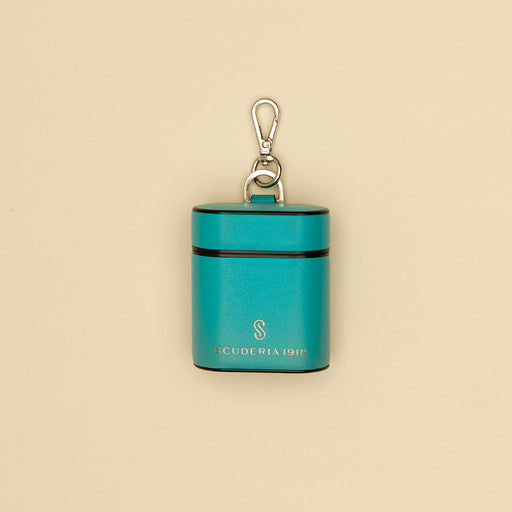 Deep Teal Leather AirPods Case - Scuderia 1918