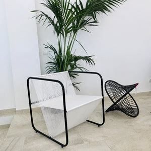 Silla Okubo eco Macramé blanco - CO'TANTIC