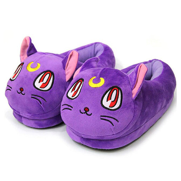 Chaussons Chat Violet