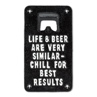 Life & Beer Wall Bottle Opener