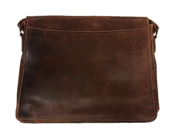 Leather Messenger Bag (199027)