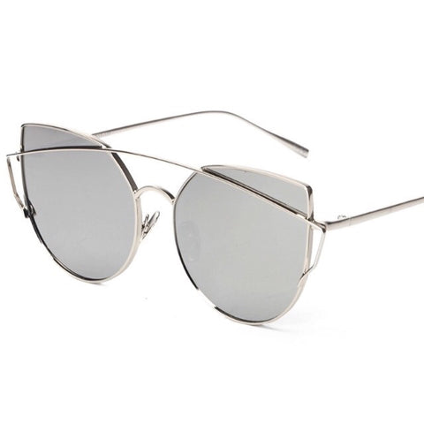 Metallic Aviator Sunglasses