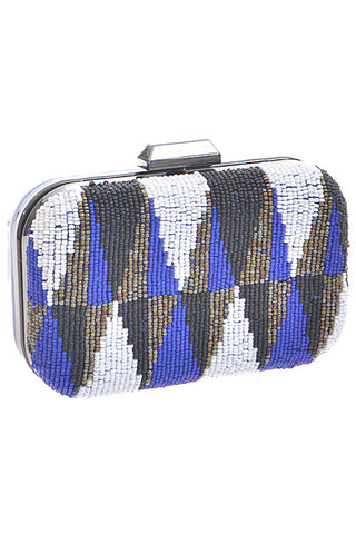 Chevron Beaded Clutch