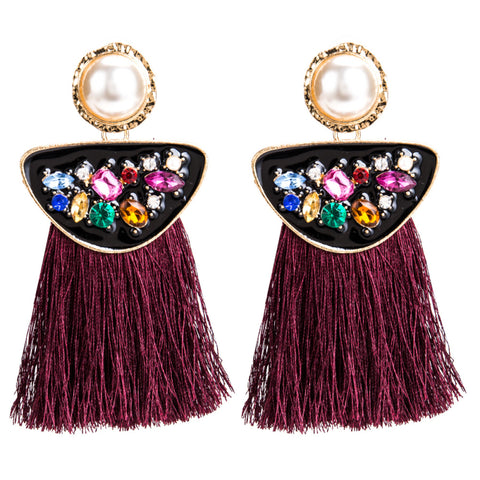 Bohemian Dazzle Tassel Earrings