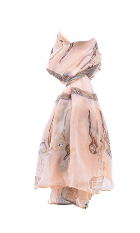 Soft Pink Printed Scarf