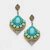 Turquoise Aztec Earrings