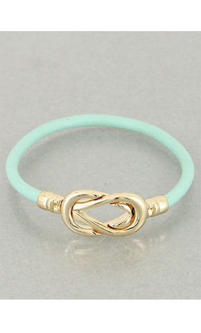 Infinity Turquoise Leather Bracelet