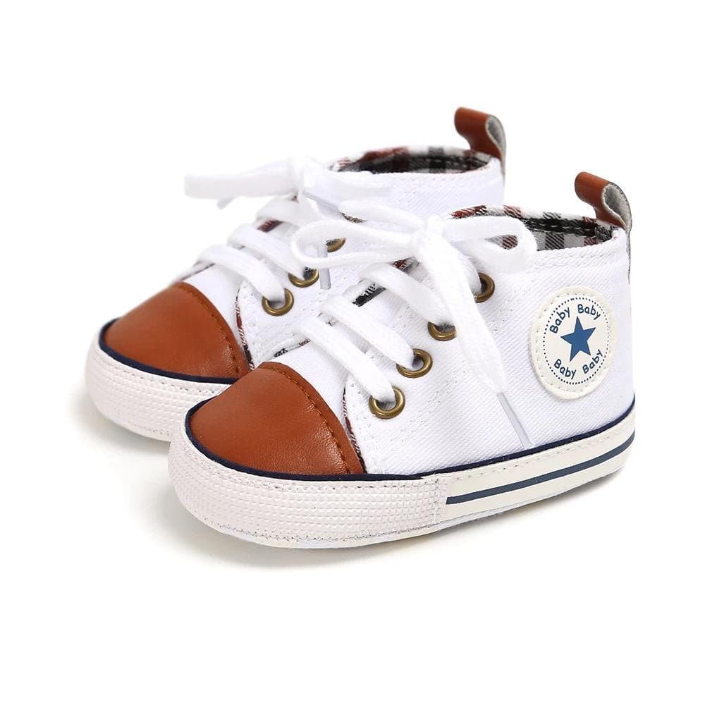 Unisex baby canvas sneakers