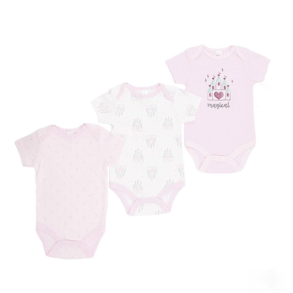 BABY PINK BODYSUIT SET