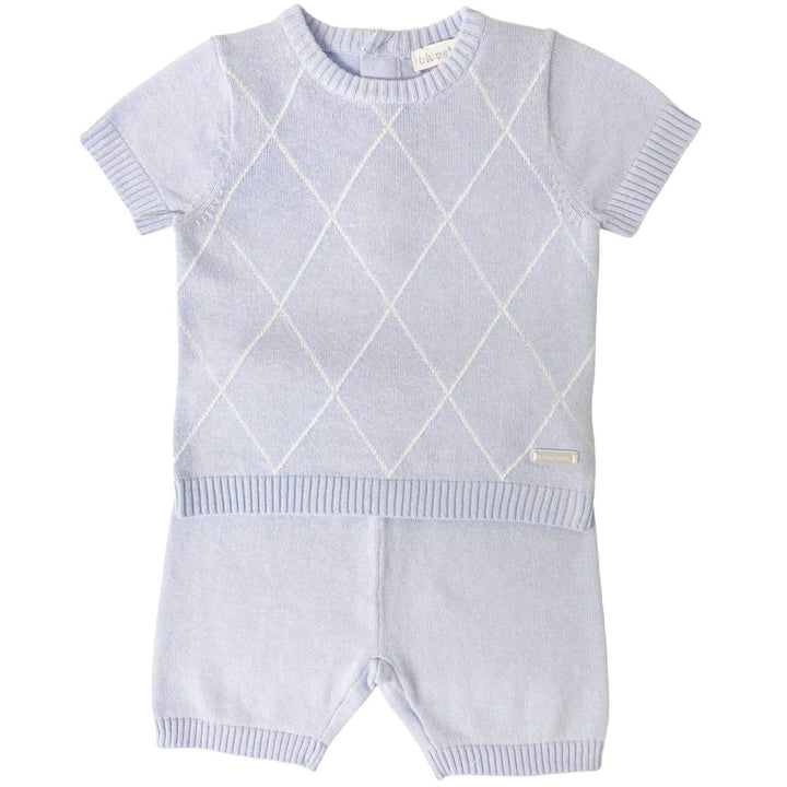 Baby Boy Diamond Knitted Outfit Set