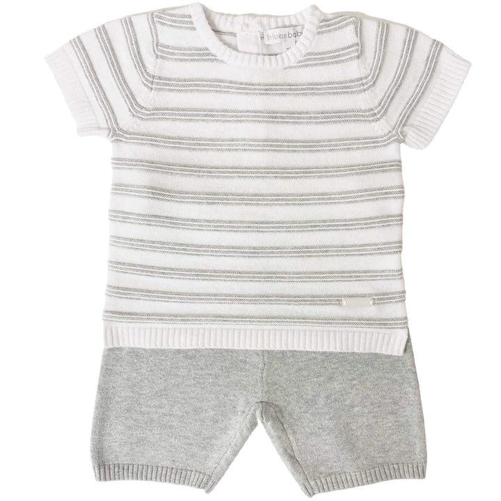 BABY BOY STRIPED KNITTED OUTFIT