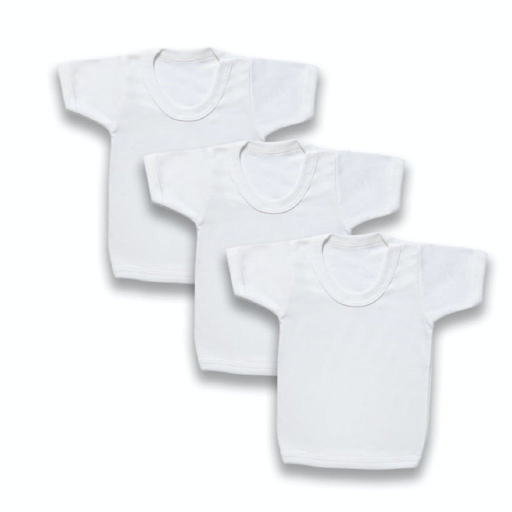 Baby White T-shirts Multipack