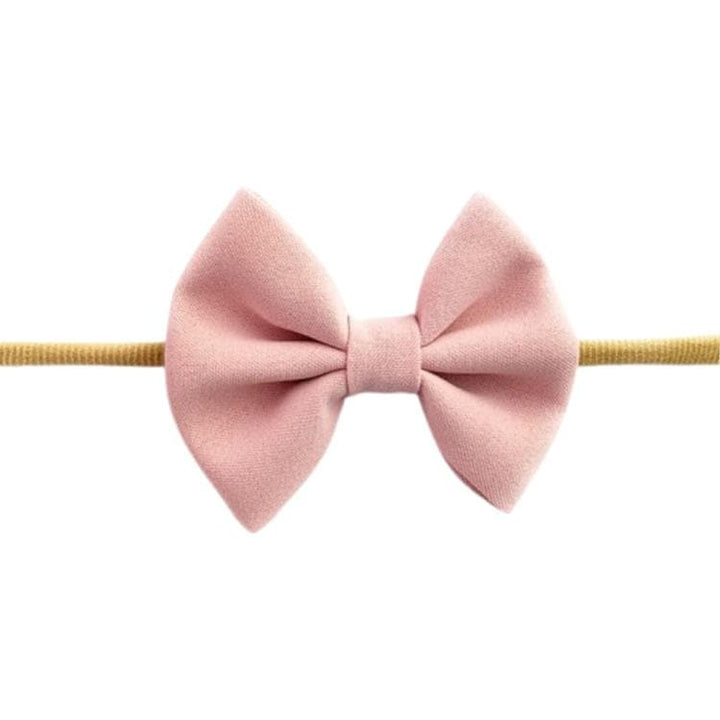 BABY GIRL PINK BOW HEADBAND