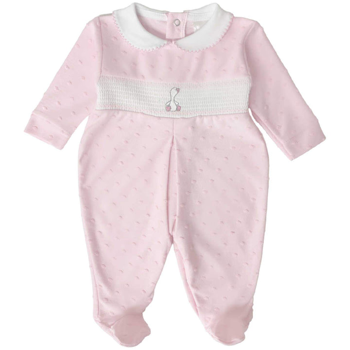 Baby Duck Sleepsuit in Pink