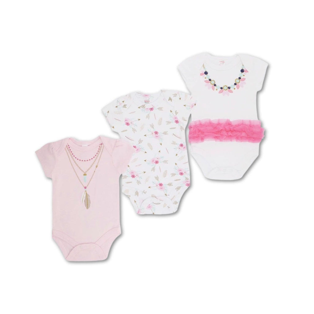 Baby girl bodysuits set