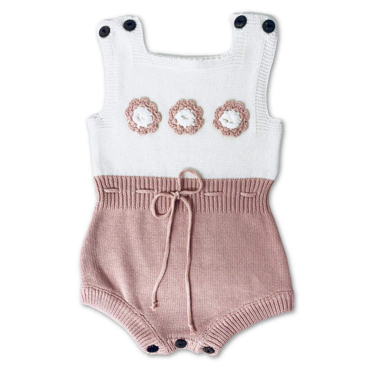 PREMIUM KNITTED BABY BUBBLE ROMPER