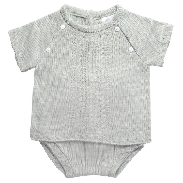 Baby Grey Knitted Outfit Set at Baby Iconic Studio UK