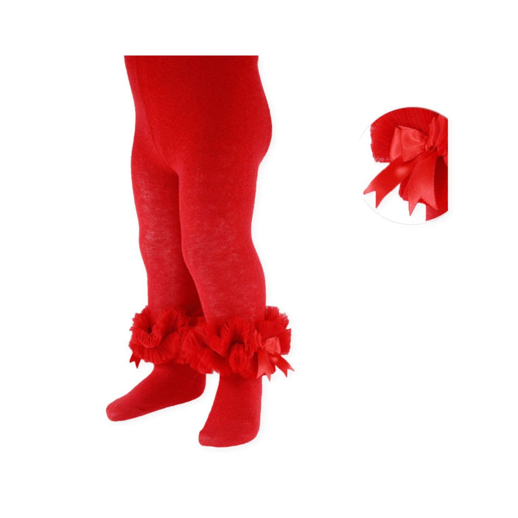 Red Frilly Baby Tights