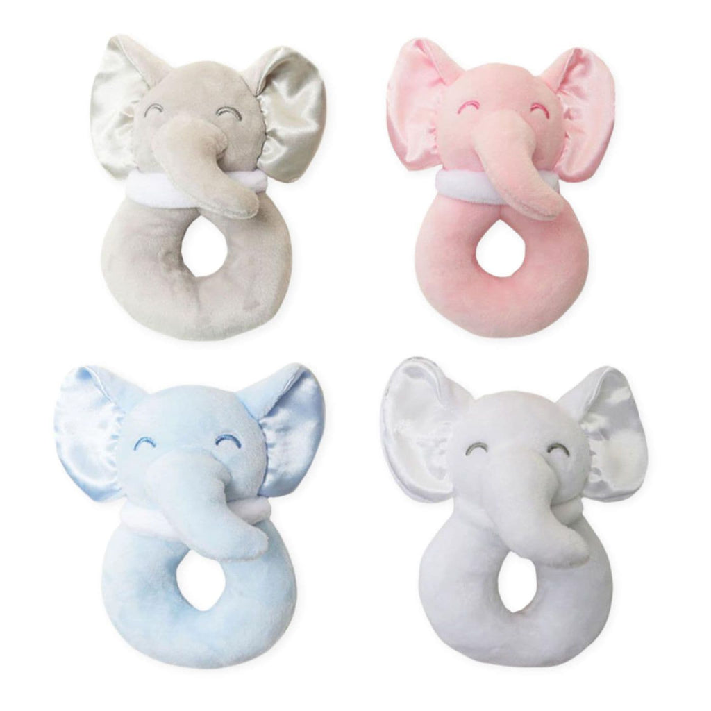 Baby Soft Elephant Rattle Toy