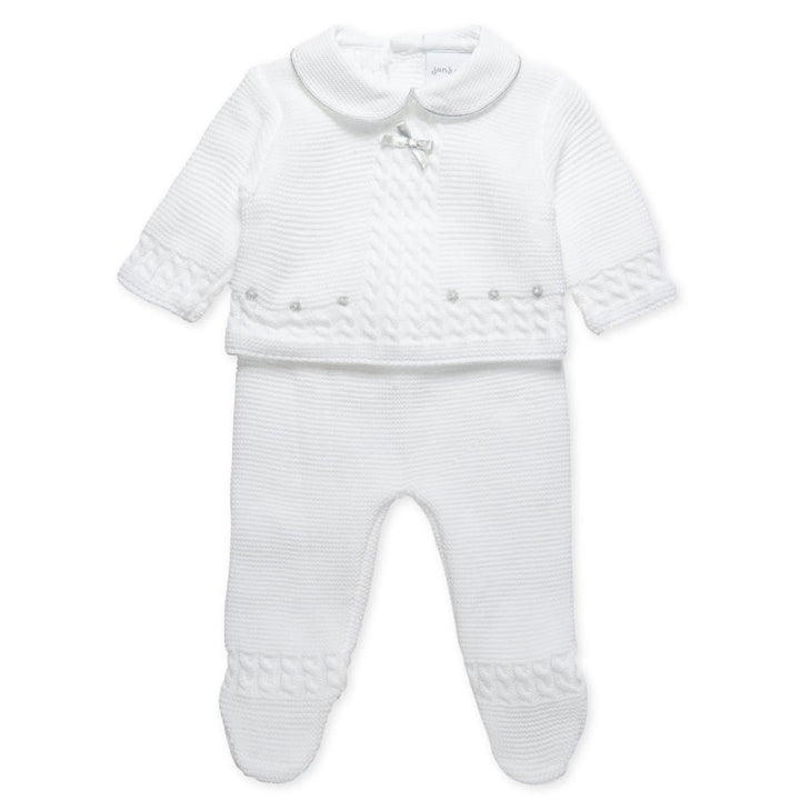 WHITE KNITTED OUTFIT SET