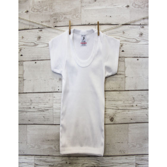 Baby White T-Shirt at Baby Iconic Studio