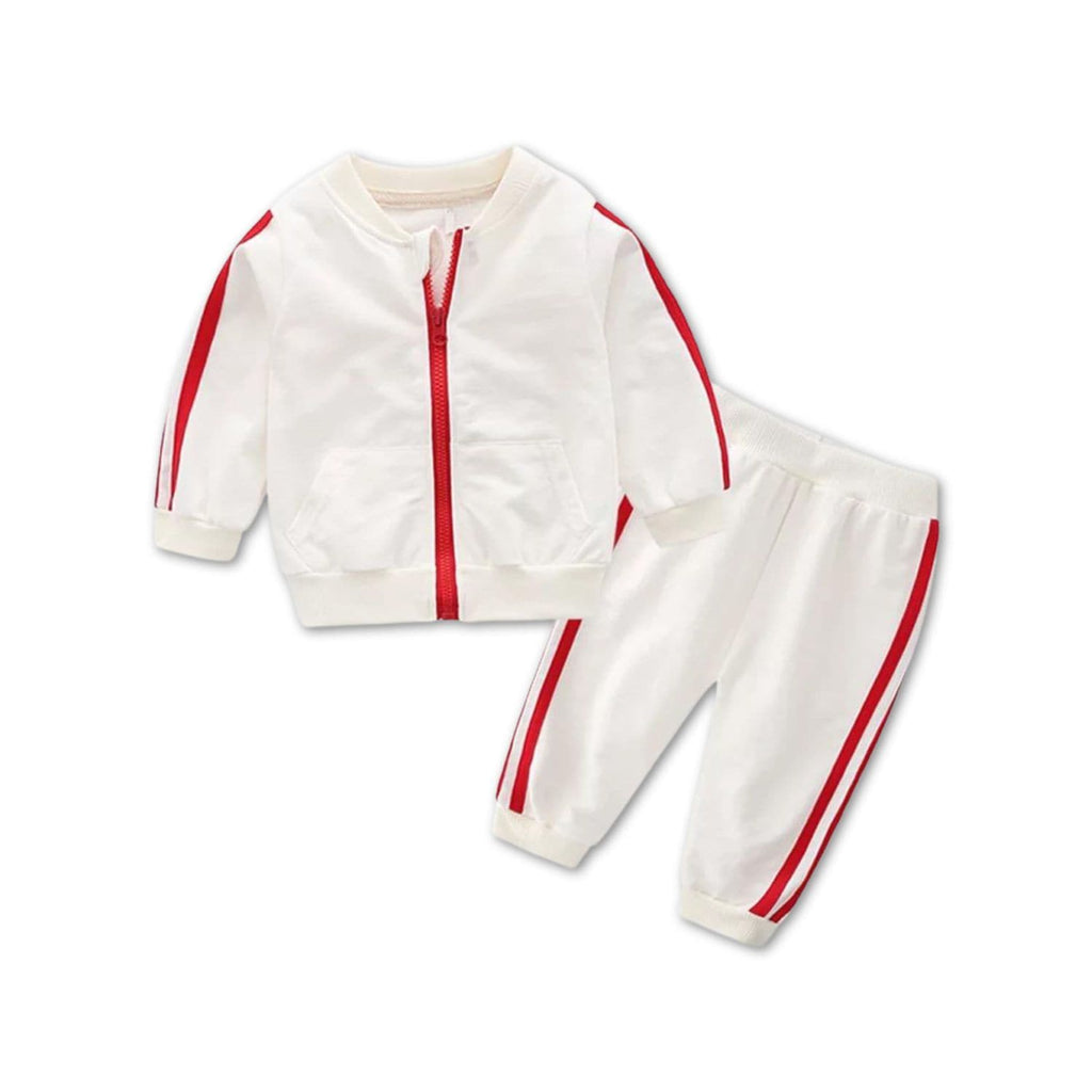Baby White Tracksuit Set at Baby Iconic Studio UK