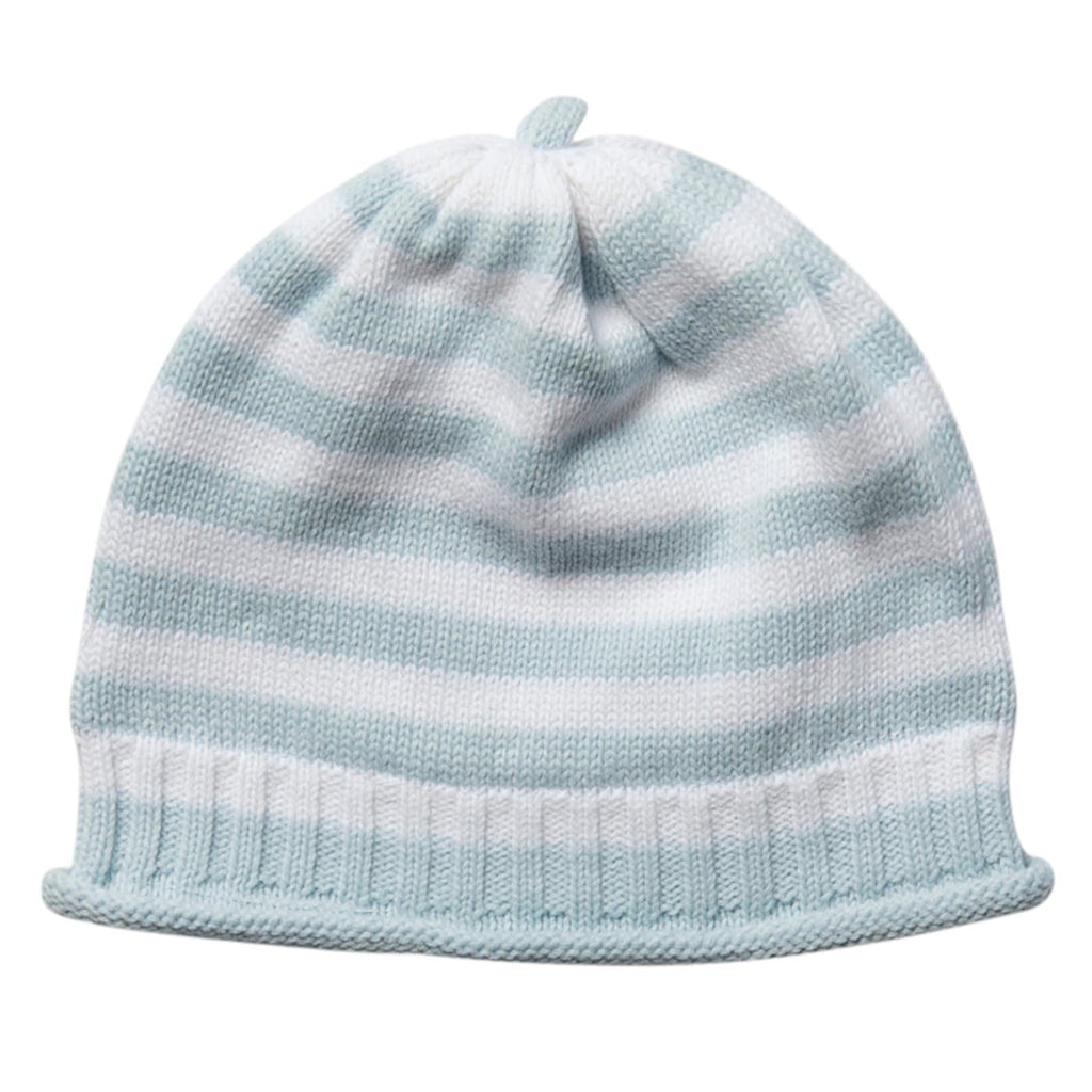 Baby beanie knitted round striped hat
