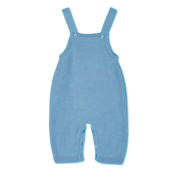 BABY BLUE KNITTED DUNGAREES
