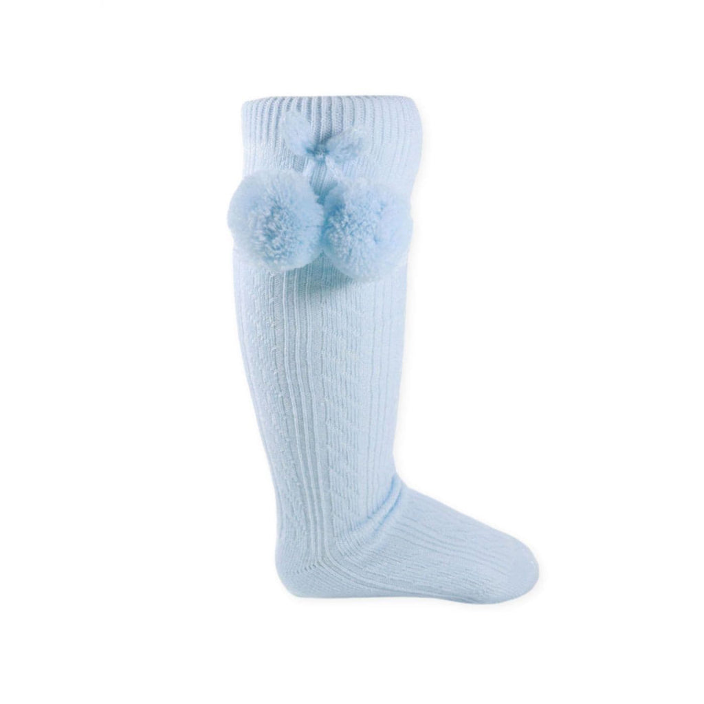 Knee High Pom Pom Socks