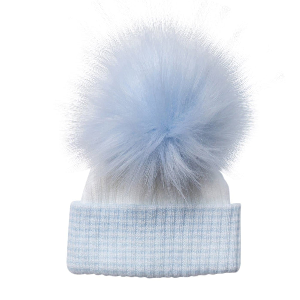 First Size Blue Pom Hat