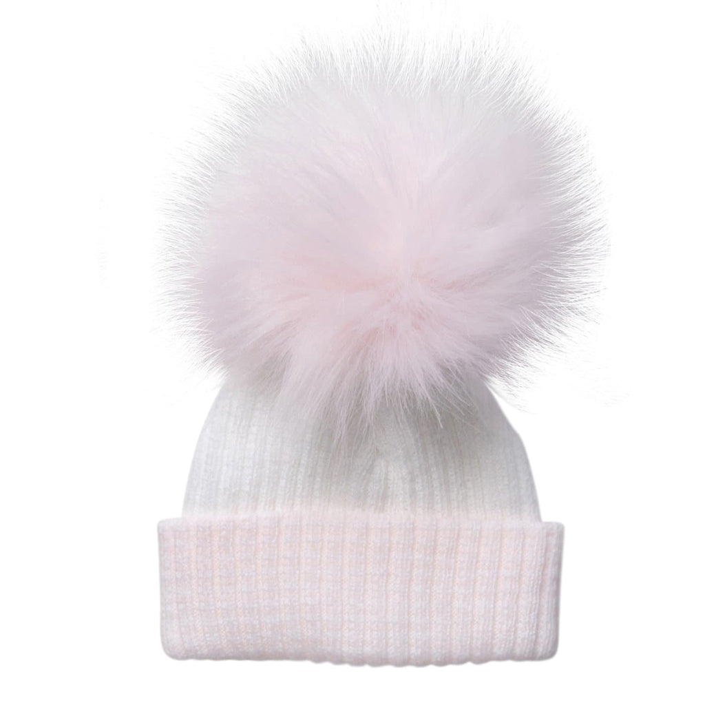 First Size Pink Pom Hat