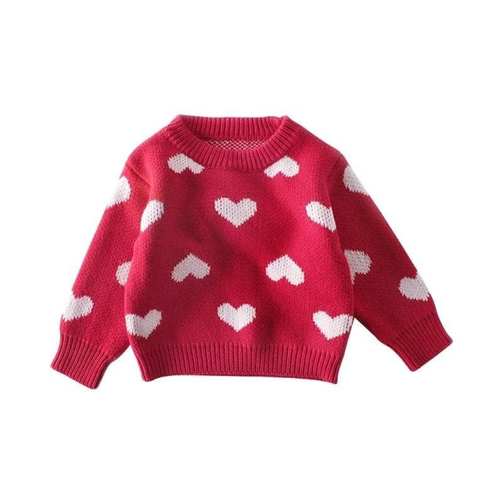 BABY KNITTED JUMPER HEARTS PATTERN