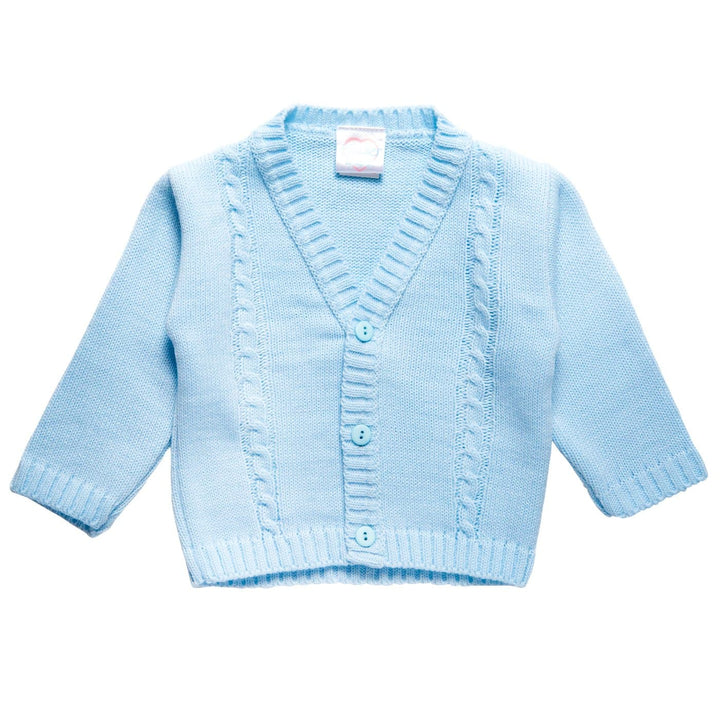 BABY CLASSIC KNITTED BLUE CARDIGAN