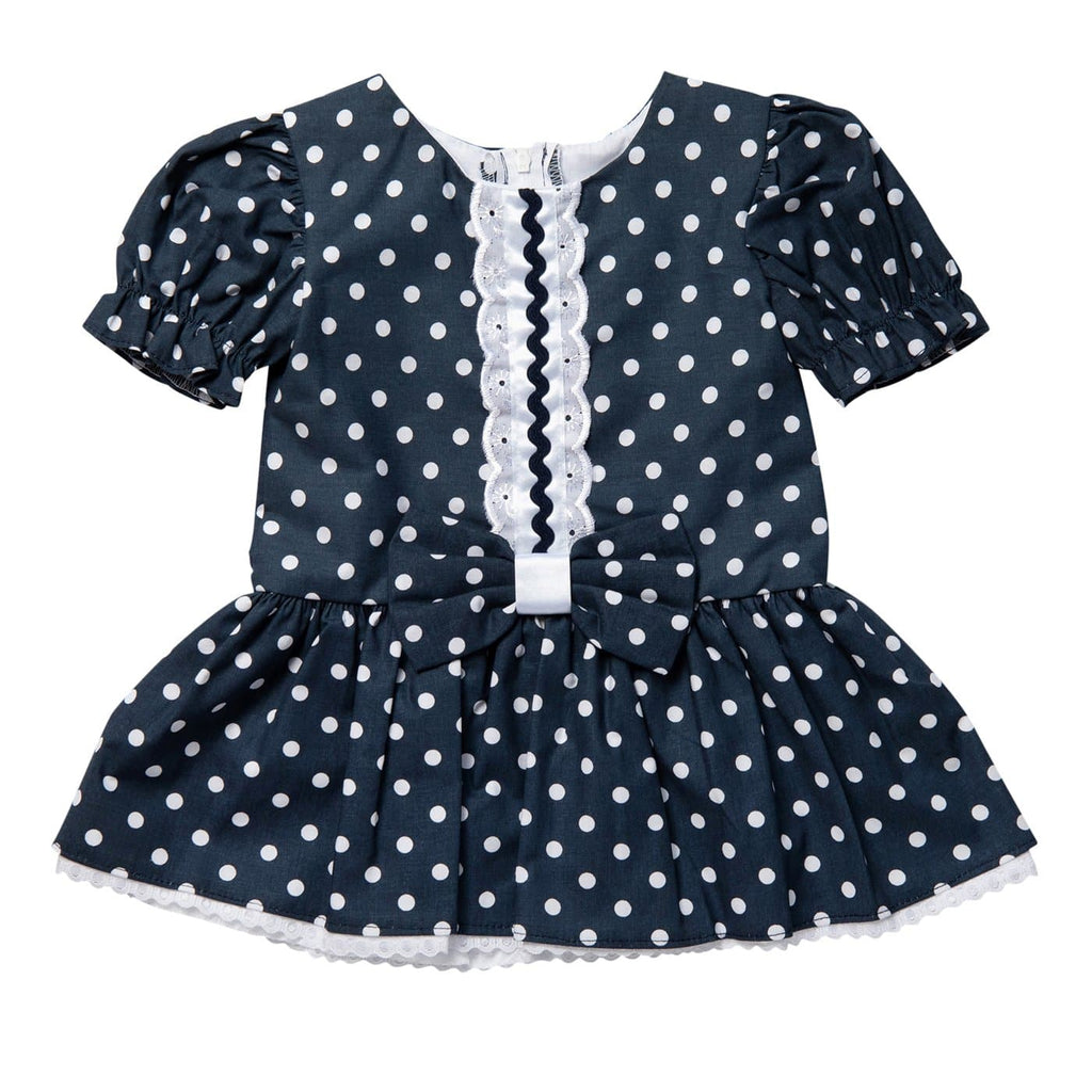 Baby Navy Polka Dress