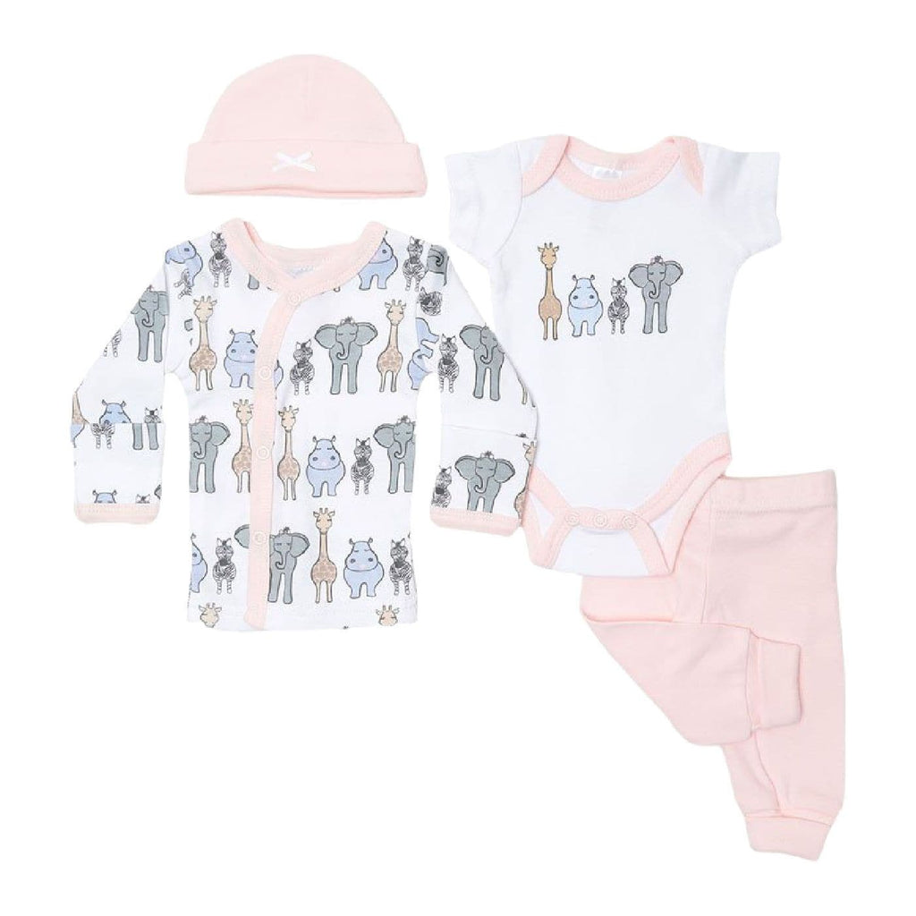 Premature Baby Set including A cardigan Bodysuit Leggings and a Hat