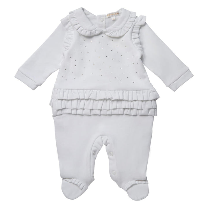Baby Girl White Premium Sleepsuit