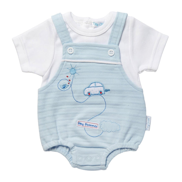 Tiny Baby Blue Dungarees Romper