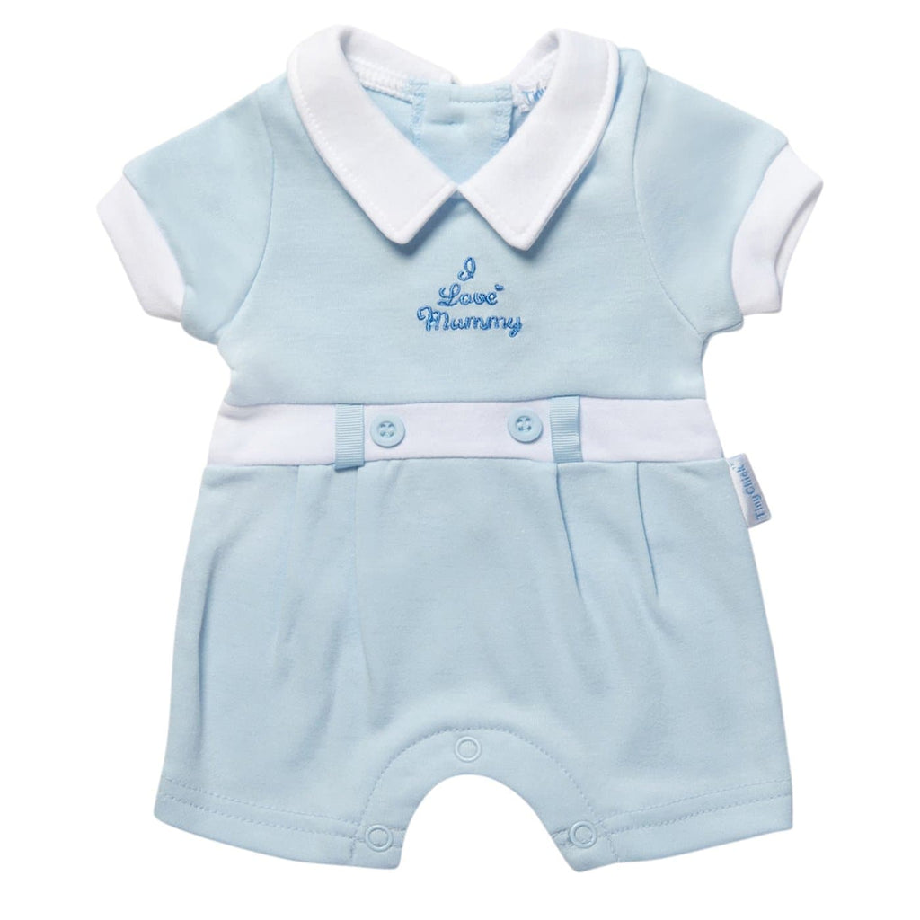 Tiny Baby Blue Romper