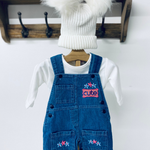 Baby Girl Denim Dungarees Outfit Set at Baby iconic Studio UK