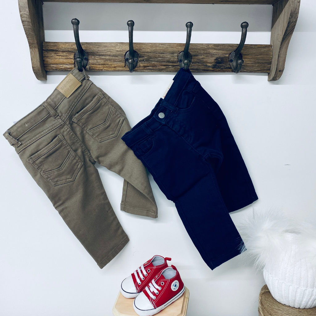 Baby denim trousers . Wonderful baby denim trousers . These little baby jeans have a very soft touch are wonderful towards a toddler's skin and feel very cozy and comfy .