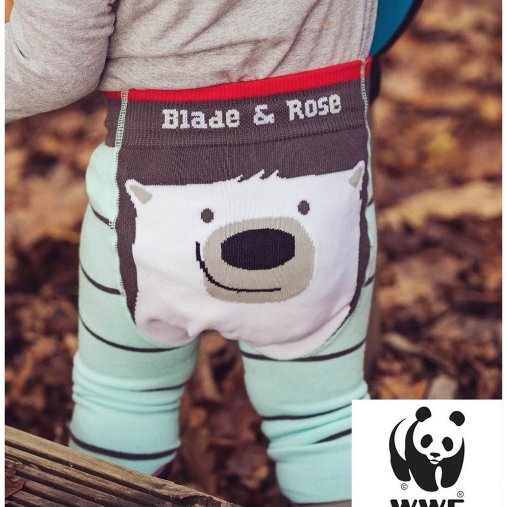 Baby organic leggings . Fabulous baby friendly organic pollar bear leggings in lovely combination of colors .