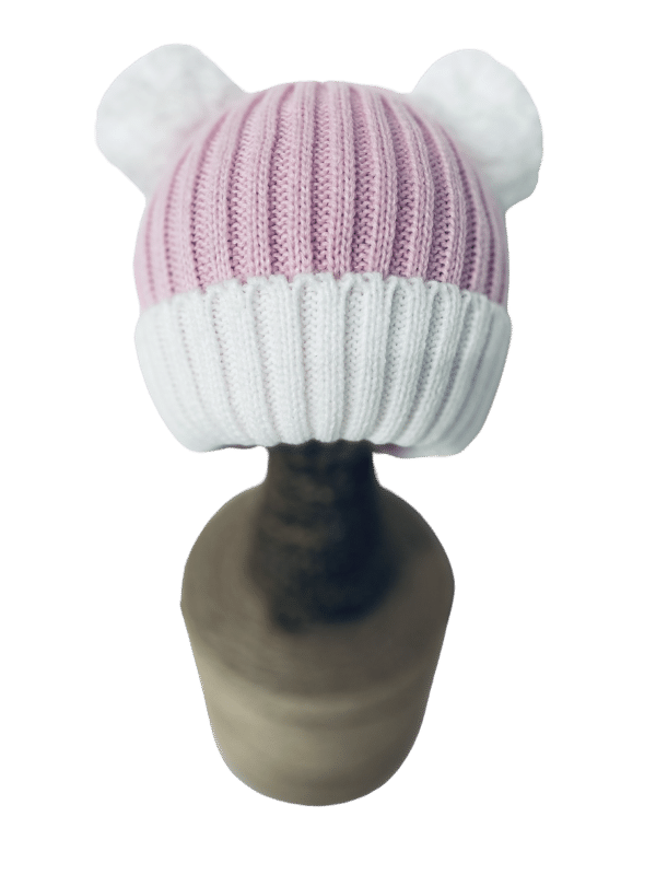 Baby Girl Pink Bobble Hat