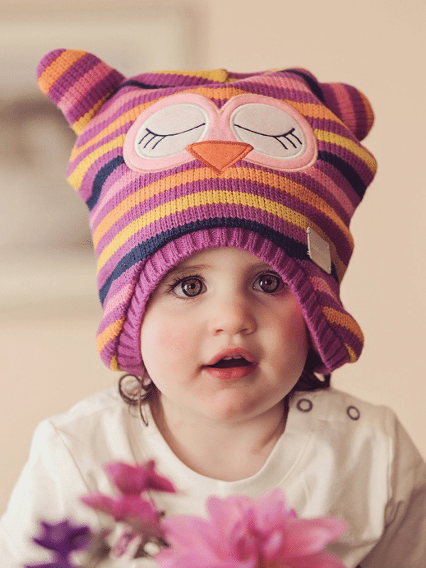 Blade and Rose Owl Hat . Baby Bobble Hat . Baby Animal Hat . Baby Winter Hat UK