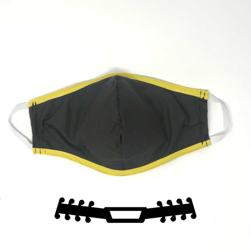 N95 Cover Black Yellow With Black Ear Saver