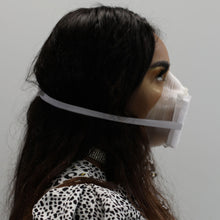 Load image into Gallery viewer, Clear 3D Printed Face Mask Side View